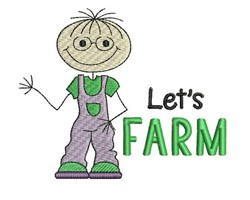 Lets Farm embroidery design