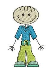 Happy Stick Boy embroidery design