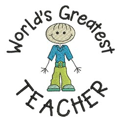 Greatest Teacher embroidery design