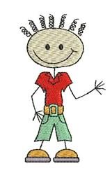 Stick Boy embroidery design