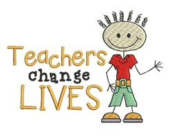 Teachers Change Lives embroidery design