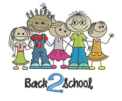 Back 2 School embroidery design