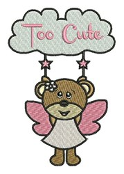 Too Cute embroidery design