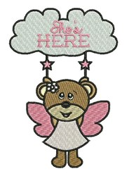 Shes Here embroidery design