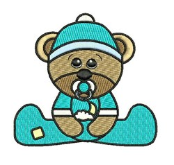Baby Boy Teddy embroidery design