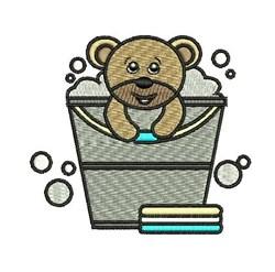 Wash Teddy embroidery design