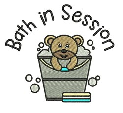 Bath In Session embroidery design