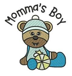 Mommas Boy embroidery design