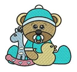 Bear & Toys embroidery design