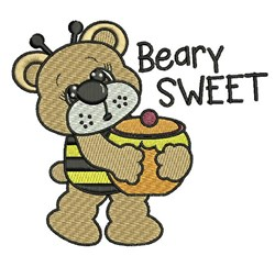 Beary Sweet embroidery design