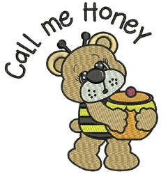 Call Me Honey embroidery design