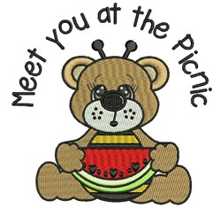 Meet At Picnic embroidery design