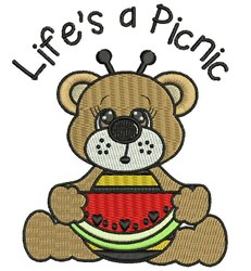 Lifes A Picnic embroidery design