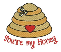 Youre My Honey embroidery design