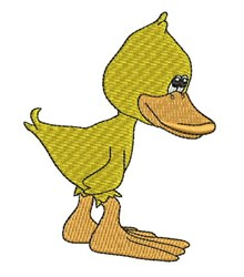 Shy Duck embroidery design