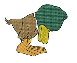 Sleepy Duck embroidery design