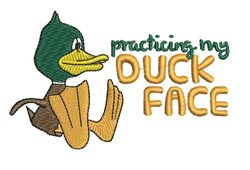 Duck Face embroidery design
