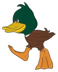 Cartoon Mallard embroidery design
