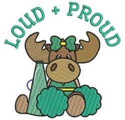 Loud & Proud embroidery design