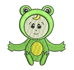 Frog Costume embroidery design