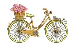 Flower Bike embroidery design