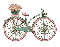 Flower Bicycle embroidery design