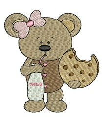 Snack Teddy embroidery design