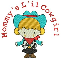 Lil Cowgirl embroidery design