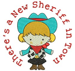 A New Sheriff embroidery design