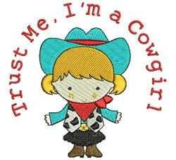 Im A Cowgirl embroidery design
