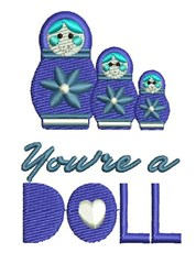 Youre A Doll embroidery design