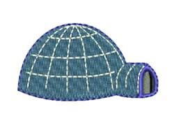 Blue Igloo embroidery design