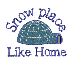 Snow Place embroidery design