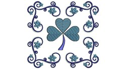Shamrock embroidery design