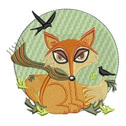 Fox & Birds embroidery design