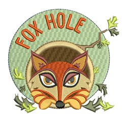 Fox Hole embroidery design