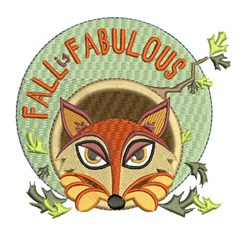 Fall Is Fabulous embroidery design