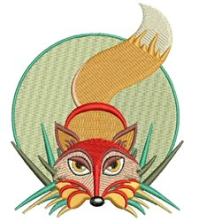 Fox In Grass embroidery design