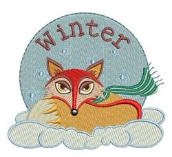 Winter Fox embroidery design