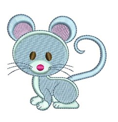 Blue Mouse embroidery design