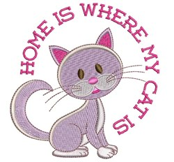 Where Cat Is embroidery design