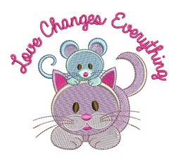Love Changes Everything embroidery design