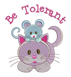 Be Tolerant embroidery design