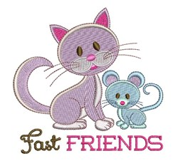 Fast Friends embroidery design