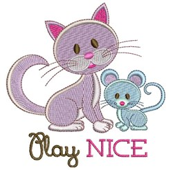 Play Nice embroidery design