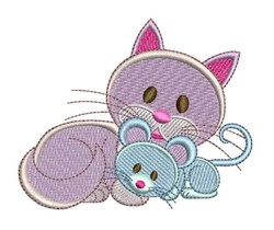 Mouse & Kitty embroidery design
