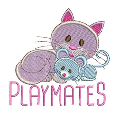 Playmates embroidery design