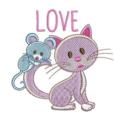 Mouse Love embroidery design