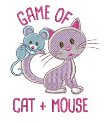 Cat & Mouse Game embroidery design