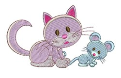 Catch Mouse embroidery design